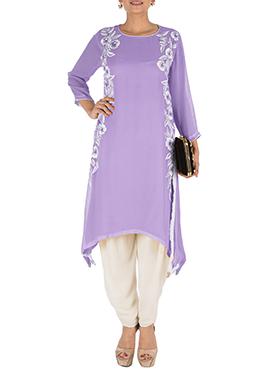 Purple Georgette Salwar Set