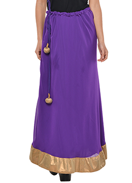 Purple Georgette Skirt