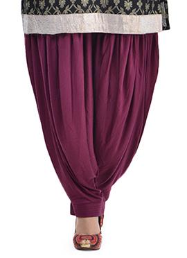 Purple Lycra Patiala Pant