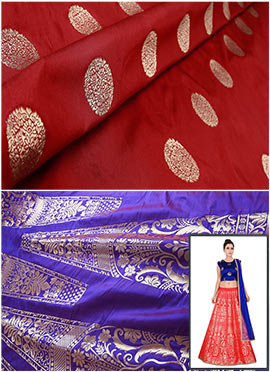Purple N Maroon Art Silk A Line Lehenga Choli