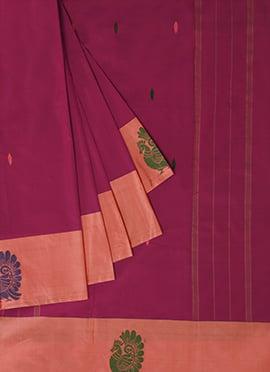 Pothys Dual Shade Art Kancheepuram Silk Saree
