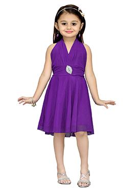 Purple Net Kids Dress