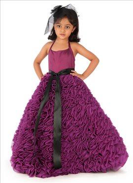 Purple Organza Kidology Gown