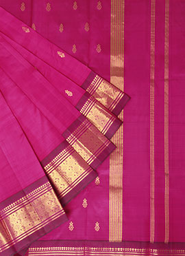 Pothys Pink Pure Kanchipuram Handloom Silk Saree