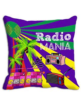 Purple Radio Mania Cushion Cover