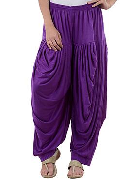 Purple Rayon Dhoti Pant