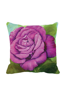 Purple Rose Cushion Cover