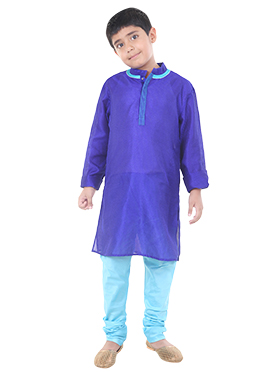 Purple Chiquitita by Payal Bahl Kids Kurta Pyjama