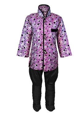 Purple Silk Cotton Kids Kurta Pyjama