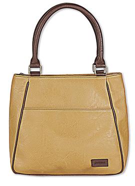 Purseus Beige Leather Tote Bag