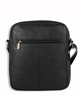 Purseus Black Leather Sling Bag