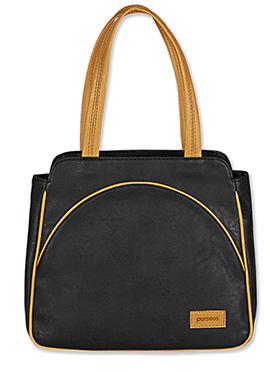 Purseus Black Leather Tote Bag