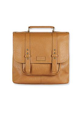 Purseus Brown Leather Satchels