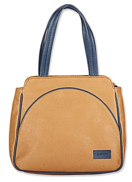 Purseus Brown Leather Tote Bag