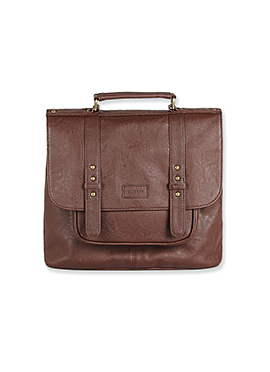 Purseus Coffee Brown Leather Satchels
