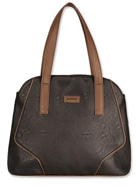 Purseus Dark Brown Leather Tote Bag