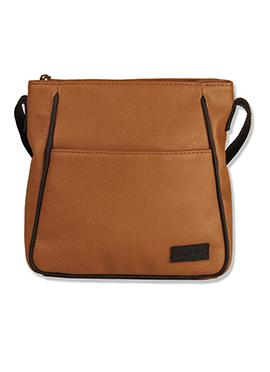 Purseus Leather Brown Sling Bag