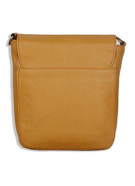 Purseus Mustard Leather Sling Bag
