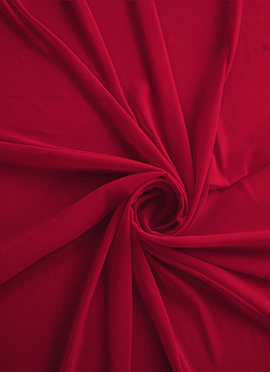 Racing Red Georgette Fabric