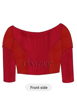 Racing Red Soft Silk Blouse