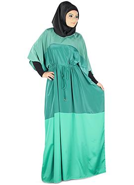 Raha Turquoise Green Crepe Fustan