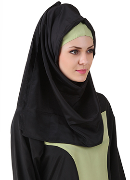 Raidah Black Crepe Hijab