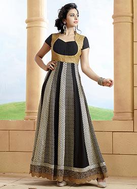 Rakul Preet Singh Black Anarkali Suit