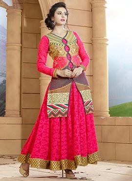 Rakul Preet Singh Pink Anarkali Suit