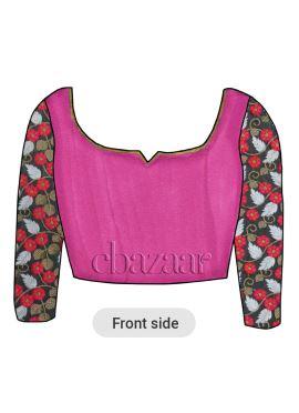 Rani Pink Art Dupion Silk Embroidered Blouse