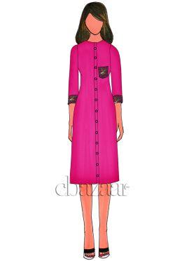 Rani Pink Art Dupion Silk Kurti
