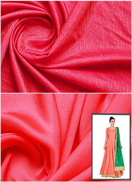 Rani Pink Art Silk Anarkali Suit
