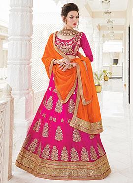 Rani Pink Art Silk Lehenga Choli