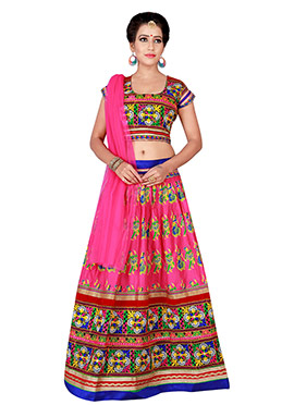 Rani Pink Cotton Chaniya Choli Lehenga