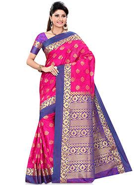 Rani Pink Kancheepuran Art Silk Saree