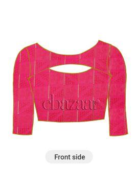 Rani Pink Mogra Silk Blouse
