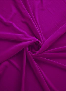 Raspberry Rose Georgette Fabric
