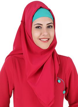 Razaan Reddish Pink Poyester Hijab