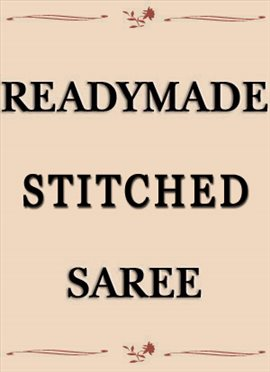 Readymade Stitched Saree