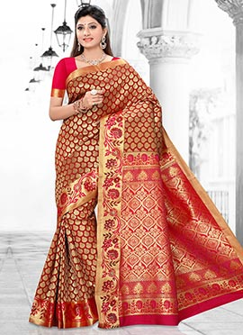Red Art Kancheepuram Silk Saree