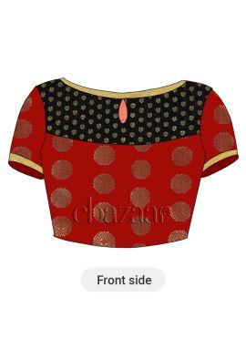 Red Art Silk Blouse
