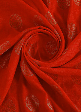 Red Art Silk Fabric