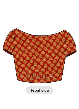 Red Brocade Embroidered Blouse