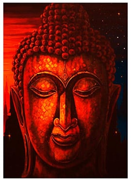 Red Buddha Canvas