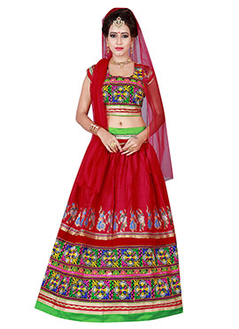 Red Cotton Chaniya Choli