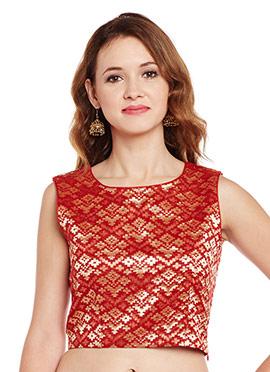 Red Cotton Crop Top