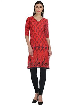 Red Cotton Kurti