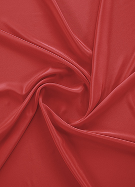 Red Crepe Fabric