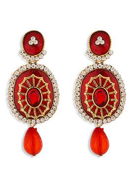 Red Dangler Earring