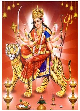 Red Durga Canvas