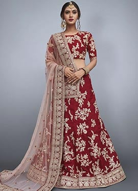0ac769837732 Buy Maroon Lehenga Choli Online | Maroon Wedding Lehengas Online ...